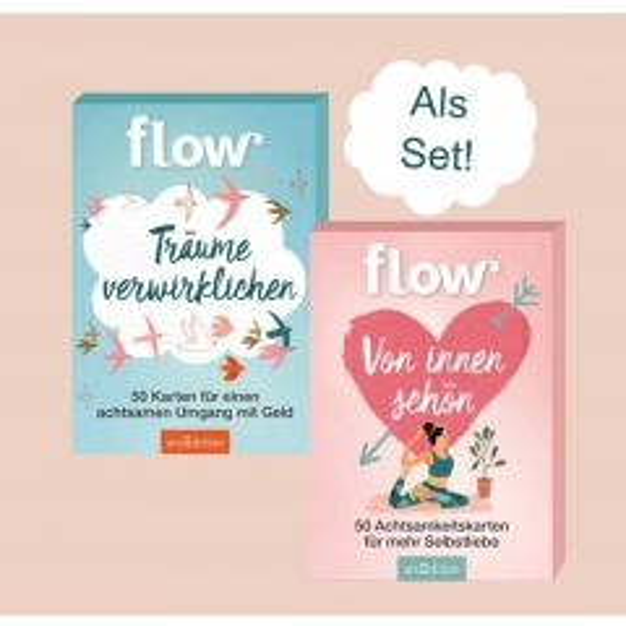 """Flow Set Kartenbox """"Träume verwirklichen"""" + Kartenbox """"Von innen schön"""""""