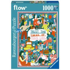 """Flow Puzzle """"Trust the Timing of your Life"""" (1000 Teile)"""